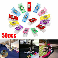 50pcs Wonder Clips For Quilting Fabric Craft Knitting Sewing Crochet UK