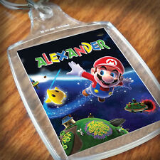 Personalised SUPER MARIO KEYRING, Lunch Bag, son daughter grandson granddaughter