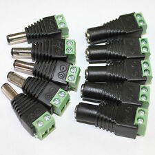 5X 12V DC Power Supply Adapter Plug Connector for 5050 3528 LED Strip Light Lot
