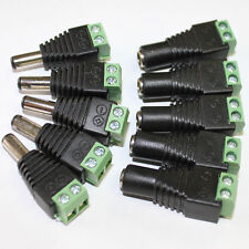 5X 12V DC Power Supply Connector Adapter Plug for 5050 3528 LED Strip Light Lot