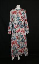 STILE BENETTON FLORAL GATHER WAIST MAXI DRESS