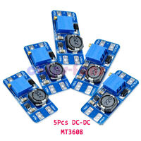 5Pcs DC-DC MT3608 Step Up Power Apply Module Booster Power Module 2A for Arduino