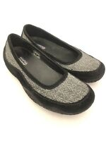 Women's PATAGONIA Gumwood Black Wool Comfort Slip On Shoes Flats Loafers Size 7