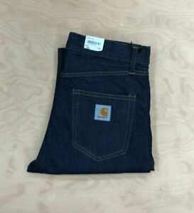 Carhartt Wip Pontiac Pant Jeans Rinsed  Loose relaxed straight fit Denim Blue