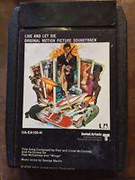 James Bond Live And Let Die 8 TRACK TAPE Paul McCartney Wings beatles