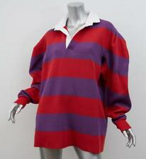 MARC JACOBS SS17 RUNWAY Red+Purple RUGBY Striped Oversized Sweater S NEW NWT