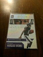 2019 Panini Unparalleled Rookie Focus #RF-MB Marquise Brown RC Baltimore Ravens
