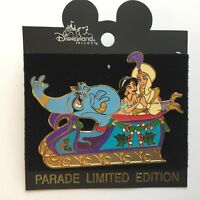 DLR - Disneyland Christmas Parade Aladdin Float pin LE 3600 - Disney Pin 8420