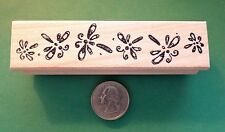 Dragonfly Border, wood mounted rubber stamp