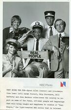 SARAH PURCELL JOHN BARBOUR BYRON ALLEN PORTRAIT REAL PEOPLE 1979 NBC TV PHOTO