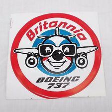 Britannia Airways Boeing 737 - 1990s - Promotional Sticker - Good Condition