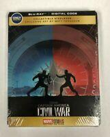 Captain America Civil War Blu-Ray Digital NEW Matt Ferguson Art Marvel Steelbook