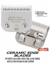 MGT CERAMIC Edge Pet Grooming 40 Blade*Fit Oster A5/A6,MOST Andis,Wahl Clipper