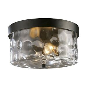 ELK 2 LIGHT OUTDOOR CEILING LIGHT FROM SEARSPORT COLLECTION 42253/2