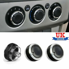 Black Aluminium Heater Knobs Buttons Set For Ford Focus/C-Max/S-Max/ST-UK
