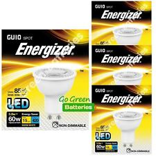 4x Energizer GU10 5.8 W = 60W LED Bulb Spotlight 420 Lumens Warm White