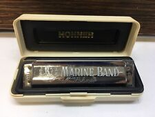 Pre-owned 2013 M. HOHNER 1896/20 D Marine Band Harmonica GERMANY