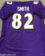 TORREY SMITH AUTOGRAPHED SIGNED BALTIMORE RAVENS JERSEY JSA STICKER