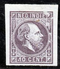 Nederlands Indië, Kleurproeven emissie 1870, ongetand, geen gom. 10 cent paars