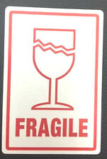 10 Fragile labels stickers Approx 50mm x 75mm  FREE P&P