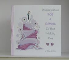 Wedding Day Congratulations Card  Large 8x8 inch Size Personalised