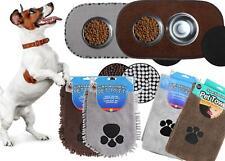 Pet Microfiber Set Quick Drying  Absorbent Towel Doormat Feeding Mat Mitt Grey