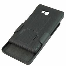 Nokia Lumia 810 - Black Hard Holster Hybrid Belt Clip Kickstand Skin Case Cover