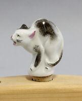 9986152 Bottle Pourer Cat Hand Painted Lindner Bavaria