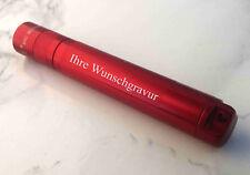 LED MAGLITE Solitaire ROT - Mag-Lite Taschenlampe - mit Ihrer WUNSCHGRAVUR