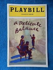 A Delicate Balance - Plymouth Playbill w/Ticket - July 11th, 1996 - Harris