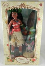 "New Disney Store Limited-Edition 16"" Moana Collector Doll LE 6500 W/ Pua & Hehei"