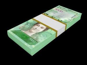 VENEZUELA BANKNOTES 5000 BOLIVARES 2016 P-NEW 100 PCS - UNC