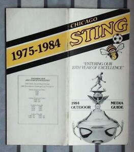 10 years Chicago Sting NASL, yearbook 1975-84