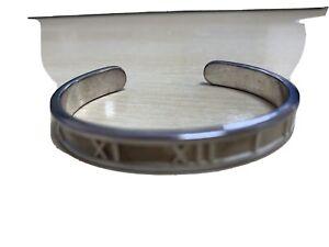 Small Tiffany & Co 1995, Silver Roman Numeral Cuff Bracelet  15cm, WFJUNTS1