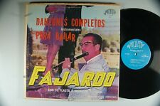 FAJARDO con Su FLAUTA y ORCH. Danzones Completos Instrumentales LP Puchito DG