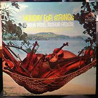 Arthur Fiedler - Holiday For Strings LP Mint- LSC-2885 Stereo RCA 1s/1s 1966 1st