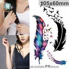US SHIP-Temporary Tattoo Custom Color Small Fresh Goose Feather Pattern Stickers