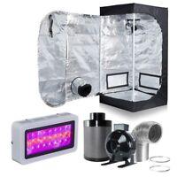 "300W LED Grow Light + 24''x24''x48'' Grow Tent + 4"" Fan Filter Ventilation Kit"
