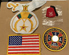 Shriner Patches, American Flag Patch, Cross Of Honor Patch  See Pics