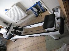 WaterRower M1 HiRise Rowing Machine +Minoura VFS-g fluid/magnetic cycle trainer