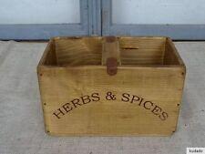 Nr.C10B Vintage Kiste ~ HERBS & SPICES ~ Holzkiste ~ Shabby Chic