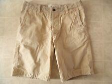Abercrombie Beige para Hombre Marrón Vintage Pantalón Corto Talla 32