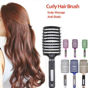 Professional Hair Brush Paddle Tangle Styling Kit Comb Cushion Massage Hairbrush