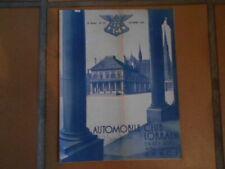 Ancienne revue Automobile Club Lorrain Nancy Décembre1938