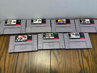 7 Snes Game Lot , All Authentic