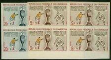 Cameroun 1965 Soccer set imperf margin blocks of four