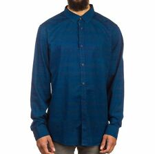 """RUSTY Men's L/S Button-Up Shirt """"Conduct"""" NVB - Large - NWT"""
