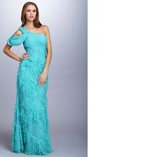 NWT $529 BASIX Grecian pageant prom social cocktail party dress teal/agua size 4