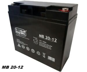 MegaBAT AGM USV Batterie MB-20-12 VRLA 12V 20Ah Notstromversorgung  wartungsfrei