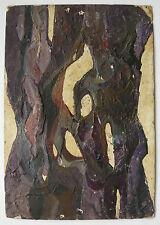Bello Piccolo Olio Vintage Composizione astratta astrattismo c.1950 #3 Quadro